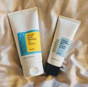 Cosrx skincare bundle cleanser & mask